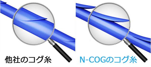 N-COG(ニュートンコグ、エヌコグ)で使用するコグ糸